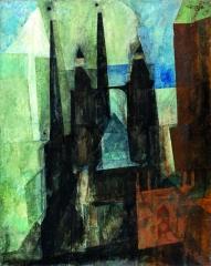 "Lyonel Feininger ""Marienkirche mit dem Pfeil"", 1930, Öl auf Leinwand ©VG Bild-Kunst, Bonn 2016 Foto: Klaus E. Göltz"