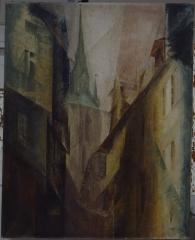 "Lyonel Feininger ""Der Rote Turm I"", 1930, Öl auf Leinwand ©VG Bild-Kunst, Bonn 2016 Foto: Bernt Federau"