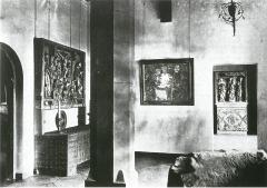 """Der Mittelraum in der Moritzburg mit Noldes """"Abendmahl"""", 1920, Foto: Archiv Kunstmuseum Moritzburg Halle (Saale)"""