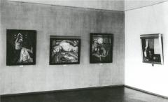 Ausstellungsraum in der Moritzburg mit Werken von Erich Heckel und Lyonel Feininger, 1930, Foto: Archiv Kunstmuseum Moritzburg Halle (Saale)