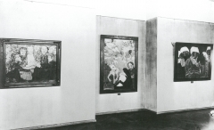 Ausstellungsraum im Talamt mit Werken von Emil Nolde, 1930, Foto: Archiv Kunstmuseum Moritzburg Halle (Saale)