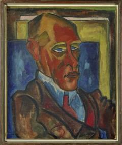 Karl Schmidt-Rottluff: Porträt von Paul Thiersch, 1915, Öl auf Leinwand ©VG Bild-Kunst, Bonn 2016 Foto: Punctum/Bertram Kober
