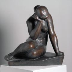 Gustav Weidanz (1889 - 1970), Sitzender weiblicher Akt, 1946, Bronze © Nachlass Gustav Weidanz Foto: Reinhard Hentze