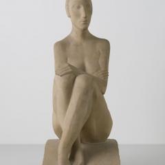 Gustav Weidanz (1889 - 1970), Hockende, 1930, Sandstein © Nachlass Gustav Weidanz Foto: Wieland Krause